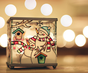 lights, photography, and snowman image
