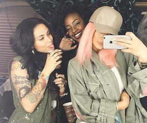 kylie jenner, kehlani, and pink hair image