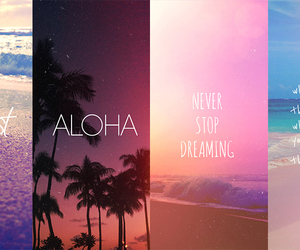 beach, summer, and Aloha image