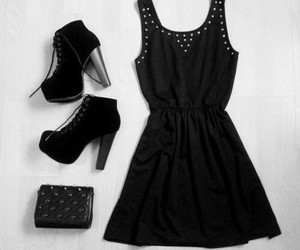 black, dress, and fashion image