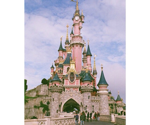 disney, pink, and castle image