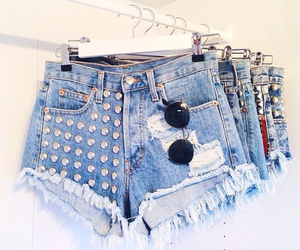 shorts, blue, and outfit image