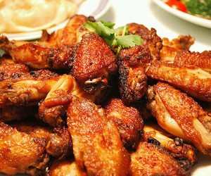 food, Chicken, and chicken wings image