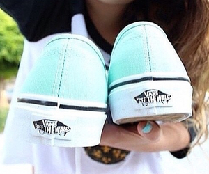 vans, girl, and shoes image
