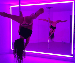 dance, neon, and pole image
