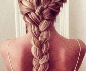 hair, blond, and braid image
