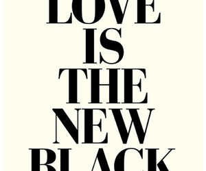 love, black, and quote image