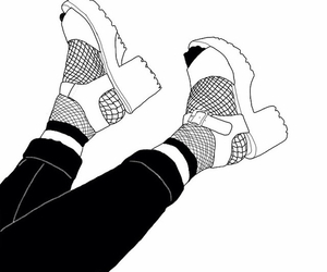 shoes, outline, and draw image
