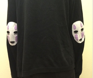 black, no face, and spirited away image