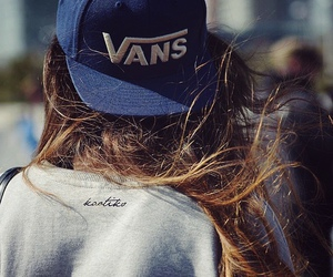 girl, vans, and hair image