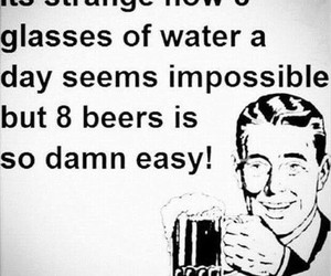 water and beer image