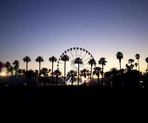 coachella, music, and sunset image