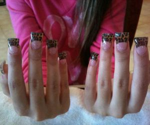 animal print, nails, and pretty image