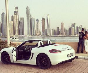 car, couple, and luxury image