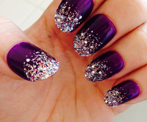 elegant, sparkle, and nail art image