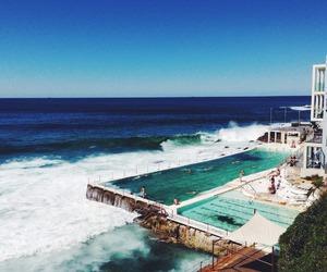 summer, ocean, and pool image