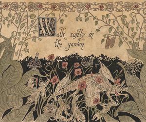 garden, softly, and walk image