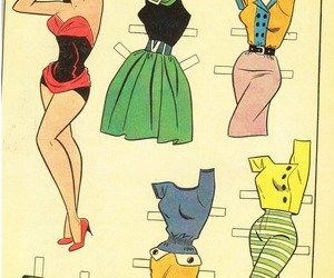 fashion, paper dolls, and veronica image
