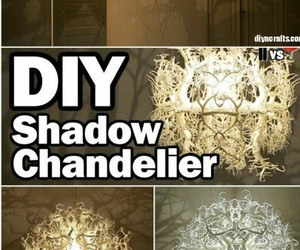 chandelier, cool, and diy image
