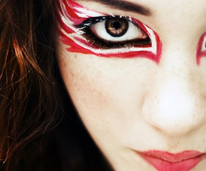 red, girl, and make-up image