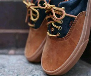 vans, shoes, and brown image
