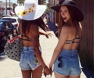 best friends, fashion, and summer image
