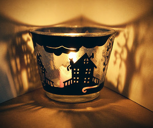 candle, candlestick, and christmas image