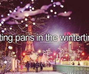 paris, winter, and christmas image