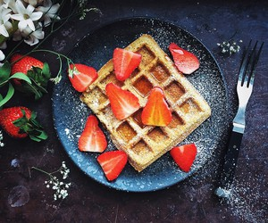 food and strawberry image