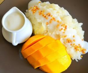 mango, dessert, and food image