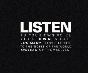 quotes, listen, and voice image