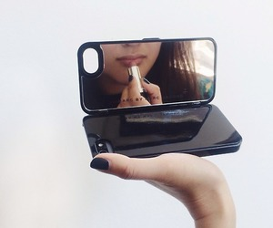 mirror, iphone, and case image