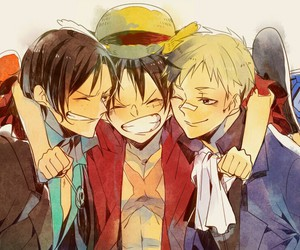 one piece, luffy, and sabo image
