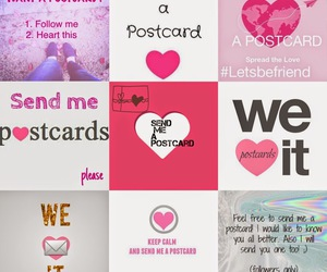 postcard, we heart it, and heart image