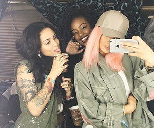 kylie jenner, kehlani, and pink hair image