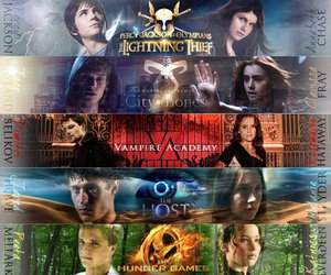 the host, percy jackson, and hunger games image