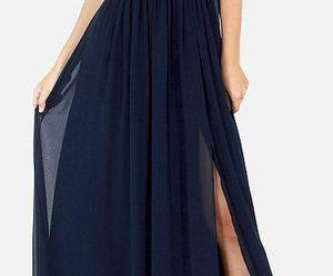blue, prom dress, and elegant image