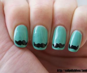 nails, moustache, and mustache image