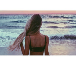 girl, beach, and style image