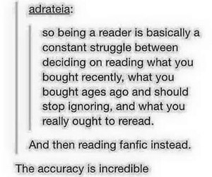 books, reader, and reading image