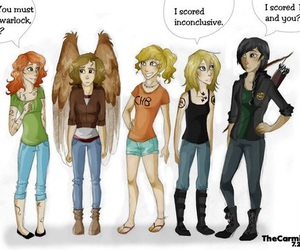 hunger games, maximum ride, and percy jackson image