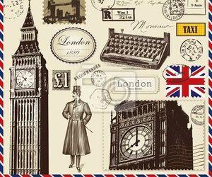 clock, postcard, and fondos image
