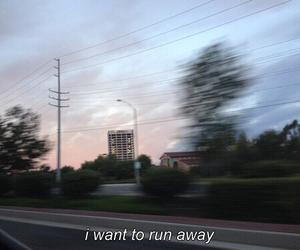 run away and word image
