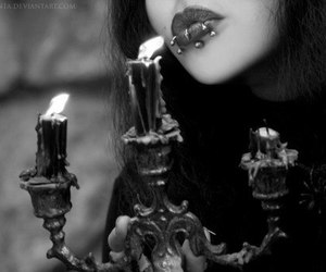 piercing, dark, and gothic image