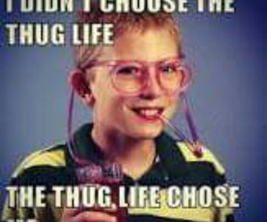 funny, thug life, and thug image