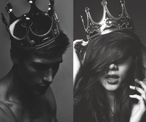 Queen, king, and crown image
