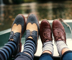 shoes, oxfords, and socks image