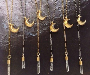 moon, indie, and necklace image