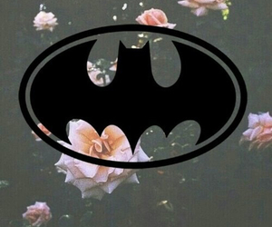 batman, girl, and background image