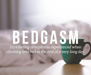bed, hot chocolate, and bedgasm image